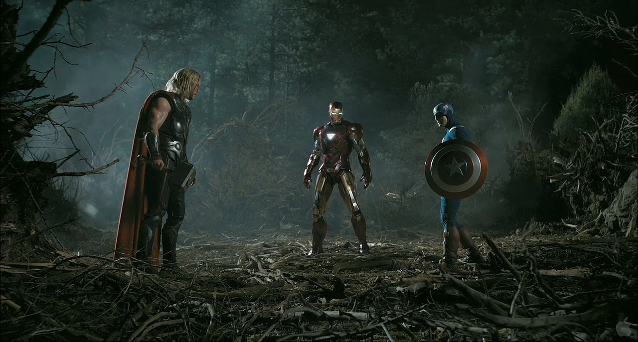 Thor-Iron-Man-and-Captain-America-the-avengers-NegroWhite