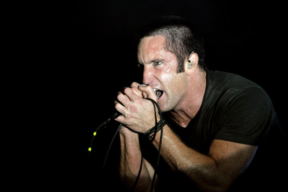 Trent Reznor of Nine Inch Nails performs at Voodoo Music Experience concert in New Orleans