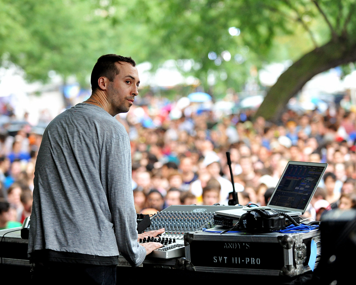 Tim Hecker at the 2012 Pitchfork Music Festival. Friday, July 13, 2012. Photo by Joseph Mohan.